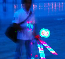 light toy hawker on jimbaron beach by Michael Brewer