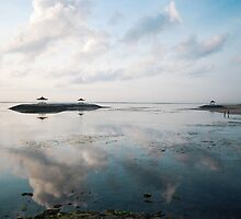 dawn pagoda islands off sanur by Michael Brewer