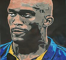 Sylvain Distin Everton Comic Book Style Image by chrisjh2210