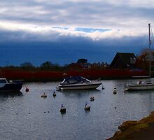 Boats on the river by Mike Streeter