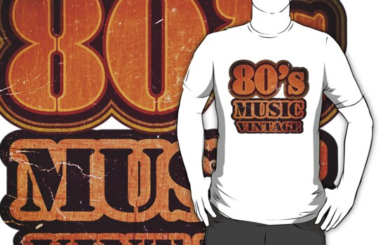 80's Music Vintage T-Shirt by Nhan Ngo
