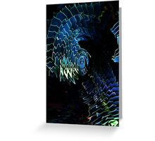 Blue scales Greeting Card