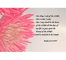 Psalm 27 Photographic Print