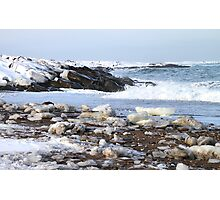 Ice & Breakers at Hudson Bay Photographic Print