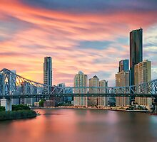The Story of a Bridge and a Windswept Sunset by PhotoByTrace