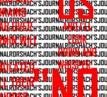 Rorshach's  Journal Typography Sticker