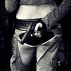 fishnets and a gun by Rosemary Scott