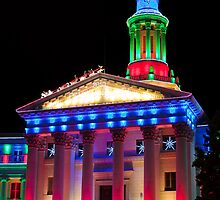 Denver City and County Building at Christmas by Reese Ferrier