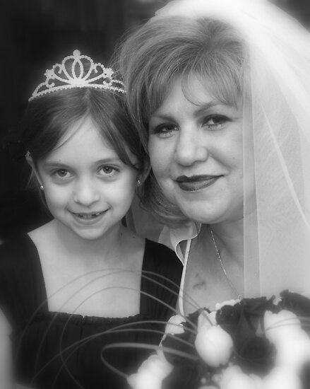 Bride and Flower Girl by Angela Pritchard