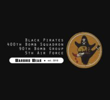 Black Pirates - 400th SQ - 90th BG - 5th AF    Emblem (White) by warbirdwear