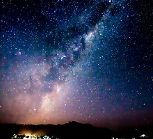 Milky Way over Lake Eildon by Neville Jones