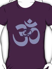 Om Aum symbol - purple T-Shirt