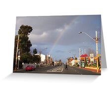 Suburban Rainbow 02 Greeting Card