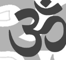 Om Aum symbol - grey Sticker