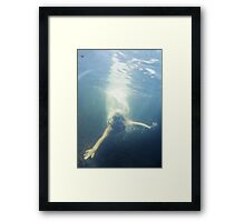 sink or swim Framed Print