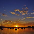 spectacular sunrise by Len  Gunther
