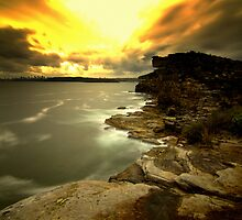 North Head Manly - Sunset from secret spot by miroslava