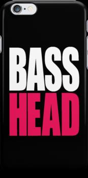 Bass Head (white/magenta)  by DropBass