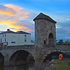 Monnow bridge, Monmouth, Wales, at sunset by GrahamCSmith