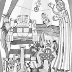 Robot Circus by MissIllustrator