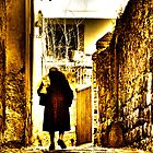 Old lady, alleyway, Viterbo, Italy by buttonpresser