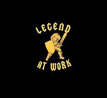 Zelda Legend At Work Gold and Black Design by TalkThatTalk