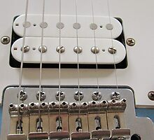 Guitar bridge and Strings by Brian Roscorla