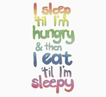 Sleepy / Hungry by micklyn