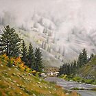 Landscape Painting - The Taylor - 16&quot; x 20&quot; Oil by Daniel Fishback
