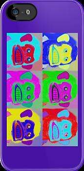 Warhol Musical Jolly Chimp phone case by Margaret Bryant
