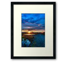 Sunrise at Centenial Marsh Framed Print