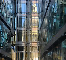 St.Pauls in a Glass Wall by Larry Lingard-Davis