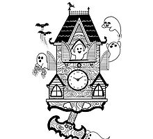 Happy Haunted Clock by Thiago  Vieira