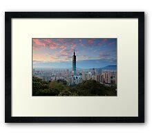 Taipei Sunset Framed Print