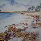 Leeman Seaweed, Jetty, Girl by scallyart
