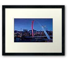 Gateshead Millenium Bridge Framed Print