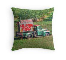 Fall Farm Funday Throw Pillow