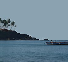 Boat in Palolem Bay by SerenaB