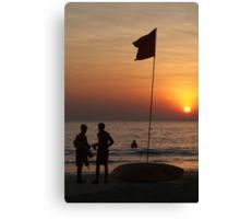 Life Guard Station at Sunset Palolem Beach Canvas Print