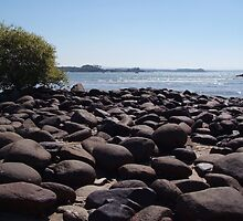 Boulders at Palolem Beach by SerenaB