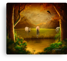 Hunting Wolf Canvas Print