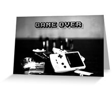 Game Over Greeting Card