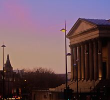 St. Georges Hall Sunset by cavan michaelides