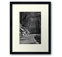 Just around the mountain Framed Print