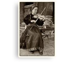 Hardanger fiddle player Canvas Print