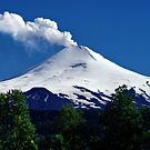 Smoking Volcano Villarrica, Chile by Daidalos