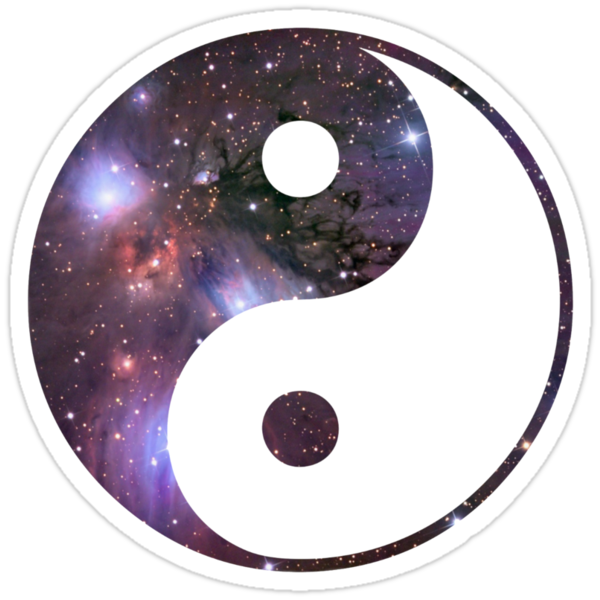 ying yang constellation by Lith1um
