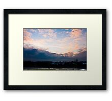 Evening sky in Earl's Colne, Essex Framed Print