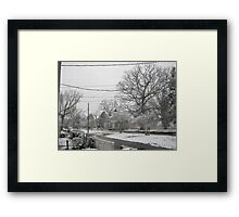 Feb. 19 2012 Snowstorm 3 Framed Print