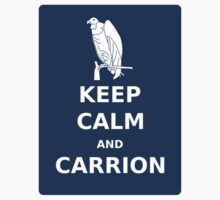 Keep  Calm and Carrion Buzzard blue by olivehue